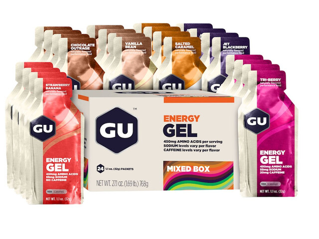 GU Energy Gel Mix - Nutrition sport - 24 x 32g Multicolore